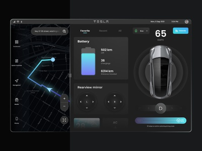 Tesla Dashboard dark uiux tesla ui car ui dasboard tesla dashboard tesla