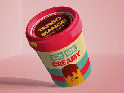 Tango Mango by Ice Ice Creamy designs packaging photoshop mango icecream weekly challenge weeklywarmup dribbbleweeklywarmup flat design adobe illustrator vector illustration