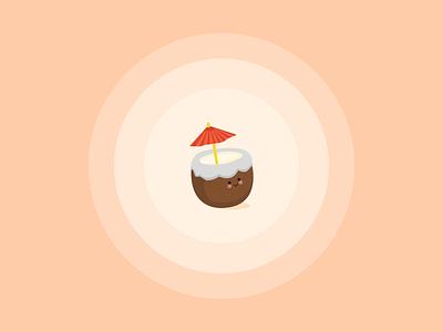 It's Summer Time illustraion illustrator iconography logo beach warm colors pina colada coconut summer icon weeklywarmup dribbbleweeklywarmup flat design flat adobe illustrator illustration design vector