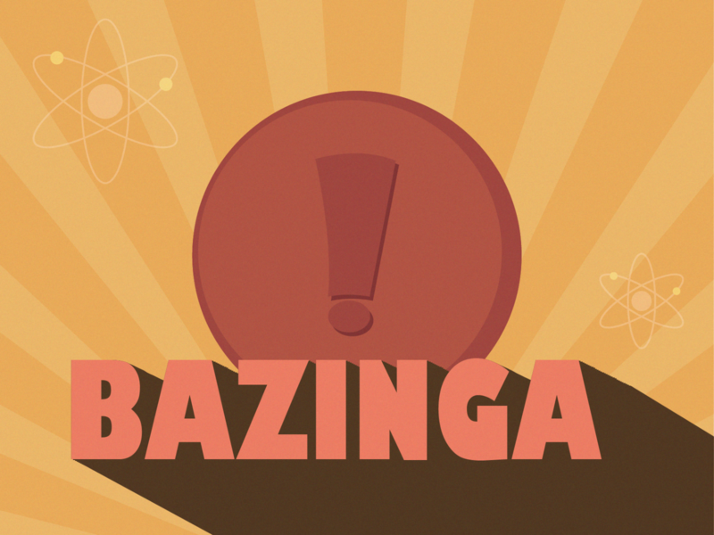 The Big Bang Theory: Weekly Warm-up poster art retro design weekly warmup weekly warm-up retro tvshow weeklywarmup minimal dribbbleweeklywarmup ui flat flat design adobe illustrator illustration design vector