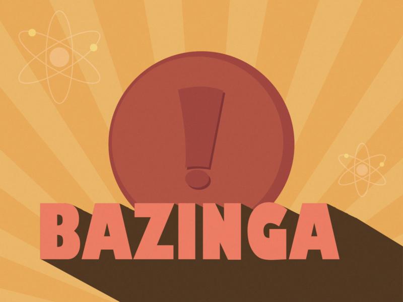 The Big Bang Theory: Weekly Warm-up poster art retro design weekly warmup weekly warm-up retro tvshow weeklywarmup minimal dribbbleweeklywarmup ui flat flat design adobe illustrator illustration design vector