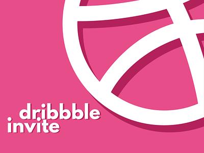 Dribbble Invite typography dribbbleinvitation dribbbleinvite invite minimal flat design flat adobe illustrator vector illustration design