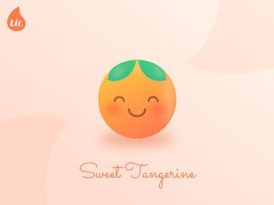 Lit - Sweet Tangerine fruit emoji cute rebound brand tangerine orange dribbbleweeklywarmup warmup weeklywarmup branding ui logo minimal flat design flat adobe illustrator vector design illustration