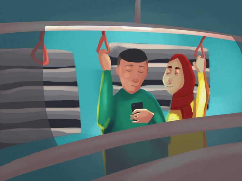 metro conceptart digital art caracter design illustration digital painting