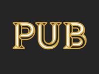 PUB Lettering