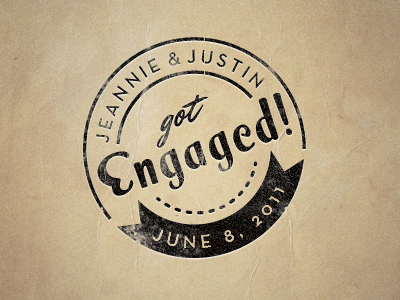 Engagement Stamp stamp seal texture paper