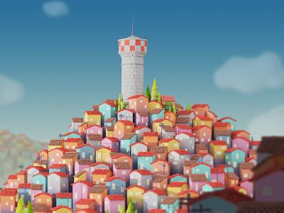 Origins 2013 cabezarota modelling city blender c4d 3d dribbble dribbblers