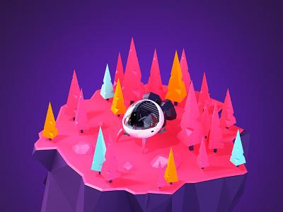 RENDER SHIP dribbblers design animation render cinema 4d c4d ship 3d cabezarota