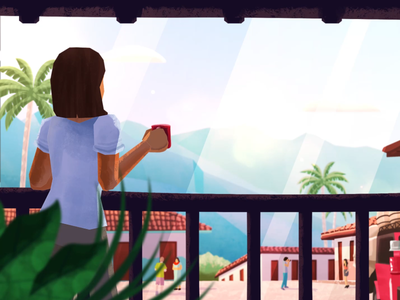 A cup of coffee in the morning dribbblers dribbble morning adobe illustrator illustration colombia cup coffee