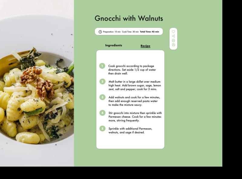 Day 040 recipepng menu ux uxdesign dailyui uxui