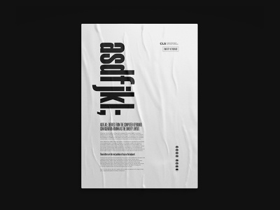 asfjkl poster posterdesign posterdesigner monochromatic typographic poster poster designer poster design poster typography