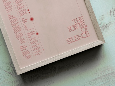 The Power Of Silence Poster poster art poster a day graphicdesign posters poster silence daily poster poster design posterdesigner posterdesign design typography