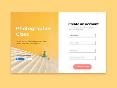 Photographer Class Website Design website ux typography graphic design ui design