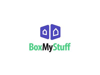 BoxMyStuff minimal home stuff box logoconcept logodesign logo