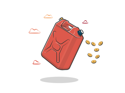 Gas can prices can gas illustration vectorillustration vector