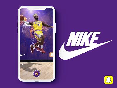 Snapchat Lens - Nike + LeBron nike lebron basketball video story social media snapchat snap augmented reality ar