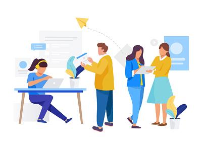 Web Design people illustrator web