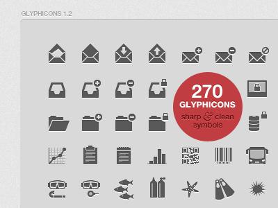 GLYPHICONS 1.2 icons iphone ipad symbols monochromatic pictograms