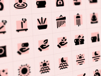 GLYPHICONS Mind set simple symbols signs pictograms monochromatic breathing yoga meditation iconography icons pack icon set icons