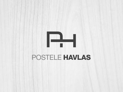 Logo Postele Havlas clever logo helvetica symbol simple black white clean
