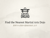 LocalDojo.com Logo global japan budo martial arts search location dark logo