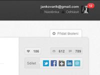 Share and like buttons on NAUC.cz