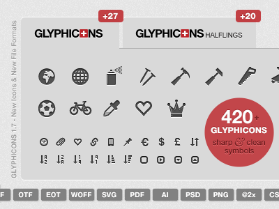 Glyphicons 1.7 by Jan Kovařík