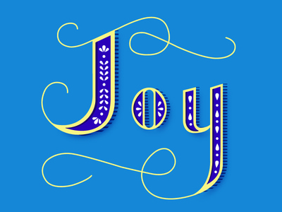 Joy lettering letter type typography vector illustrator design