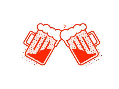 COOP Beer Cheers icon illustration illustrator beer fun one colour toronto vector design graphic