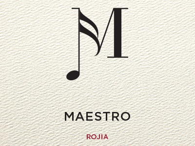 Maestro Wine Label label packaging wine minimal design icon logo