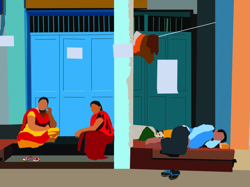 Thursday's Afternoon indian india illustration design