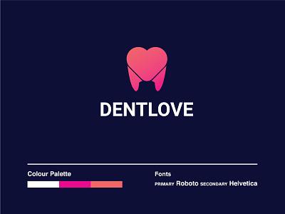 DentLove Combination Mark - App Icon minimalism modern logo dental love love logo dentist logo gradient logo dental design dental life dental life concept logo ui colourful logo branding love dental logo app icon abstract 2d