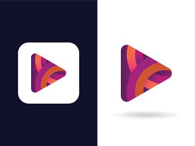 TuneIt Logomark - Play Icon Logo app icon gradient logo tune music application logo logo marks modern logo minimalism icon colourful logo music app app logo music app logo play play icon play button logo mark abstract logo