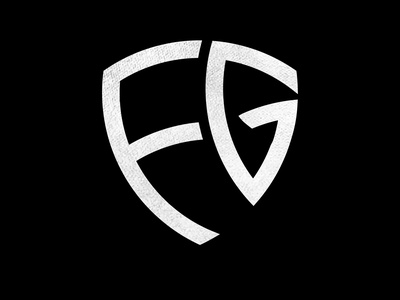 FG Monogram Logo with Shield Shape shield logo fg combine logo vector initials combination shield shape graphic geometric shape shield fg logo monogram logo shield icon illustration flat design abstract app icon branding logo