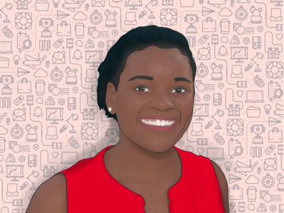 Nolu in Tech | Portrait digital painting digital illustration digital art apple pencil ipad portrait procreate illustration