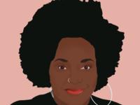 The Tea with Bri | Portrait digital art procreate digital illustration digital painting illustration ipad portrait design logo ui