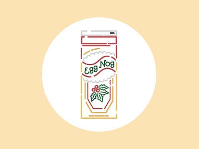 Nog milk illustration line art minimal vector art christmas holidays egg nog