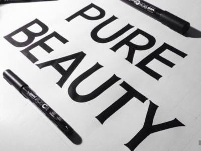 Pure beauty lettering lettering hand made letters type