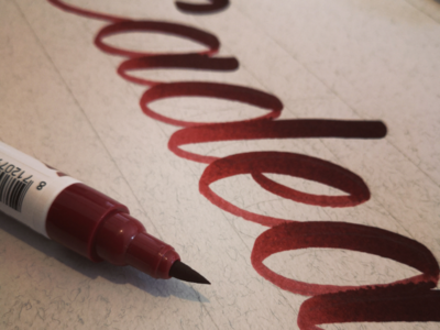Lettering lettering hand sign pen