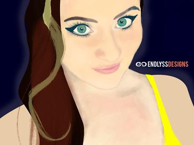 Alyssa Aldrich 2015 Self Portrait digital painting illustration photoshop