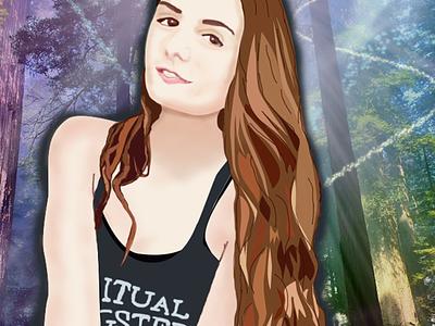 Spiritual Gangster Girl Portrait digital painting illustration photoshop