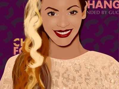 Beyonce Portrait digital art portrait photoshop beyonce celebrity portrait