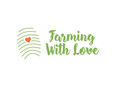 Farming With Love - Logo Design branding farming logo