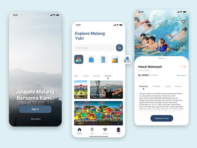 Malang Travel App user experience userinterface ux dailyui staysafe staycation explore vacation holiday traveling covid covid-19 covid19 travel app travel app design android app uiux