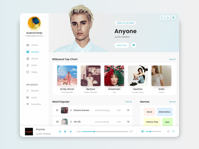 Music Player covid 19 covid covid-19 covid19 design illustration uxdaily uxdesign uidaily uidesign uiux media player mp3 player music app music player