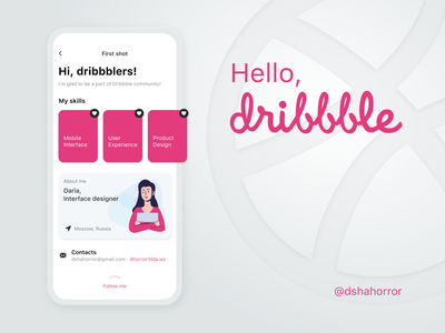 Dribbble hello shot minimal app mobile ux ui illustration