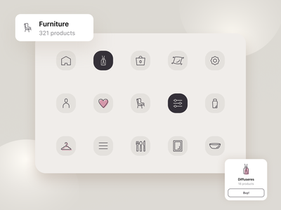Icons Set for Furniture Project web vector stroke mobile ui icons icon set figma ui furniture app mobile app