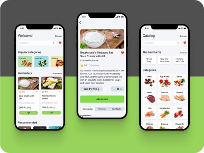 Mobile app for farmers market education minimal marketplace market web app ux ui design