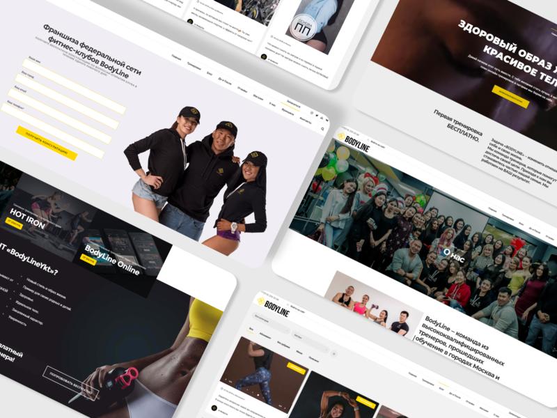 Сайт компании Bodyline website illustration illustrator typography web ux ui design branding