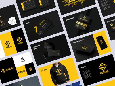 Брендбук фитнес-центра Bodyline flat web typography illustrator illustration branding design